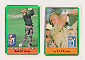 1981 Donruss Golf Jack Nicklaus #13 & Statistical Leader Rookie Cards