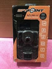 New! Spypoint Solar-W Solar Trail Camera 12Mp Game 42 Led Hd Video Flash 90