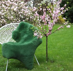 Lambskin Sheepskin Sheared Apple Green Merino Fur Decoration Seat Pad