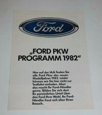 Ford Car 1982 Range Brochure CAPRI FIESTA, ESCORT, TAUNUS, CAPRI, GRANADA,