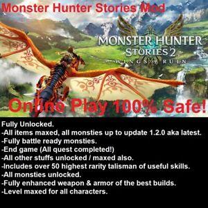 Monster Hunter Stories 2 Mod / Edit, all items, all monsties, fully unlocked