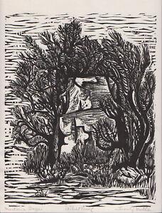 """Montana Sage"" Leon Gordon Miller - Wood Engraving signed Artist Proof, STRIKING"