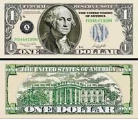 "GEORGE WASHINGTON - BILLET ""1 DOLLAR US"" - Collection Million Monnaie President"