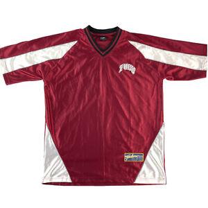 Vintage FUBU Athletic Jersey Shirt Maroon And White Streetwear Size Standard