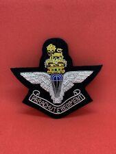 Parachute Regiment Wire Embroidered Bullion Blazer Badge - British Army Military