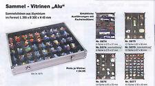 SAFE 5874 Alu-Vitrine mit 6 Fächern 275 x 57mm, I B Ware
