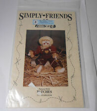 1993 Simply Friends Sewing Pattern for Scarecrow Folk Rag Doll w clothes