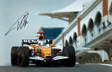 ***  FERNANDO ALONSO  -  RENAULT / RENAULT  -  SIGNED  -  F1  ***  A4 photo