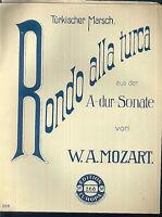 Mozart ~ Rondo alla turca aus der A-dur-Sonate ~ alt, übergroß