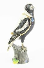 Magpie Jewelled Bird Trinket Box or Figurine