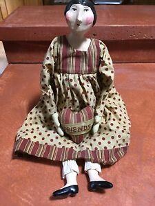 ESC Trading Company Sharon Andrews Primitive Folk Art Friends Doll