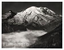 1949 Original ANSEL ADAMS Mount Ranier Washington Landscape Photo Engraving Art