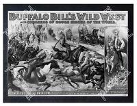 Historic Buffalo Bill 1898 Advertising Postcard