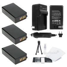 3x EN-EL20 ENEL20 Battery + Charger + Bonus for Nikon 1J1