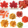 100Pcs Fall Fake Silk Leaves Wedding Favor Autumn Maple Leaf Wedding Home Decor