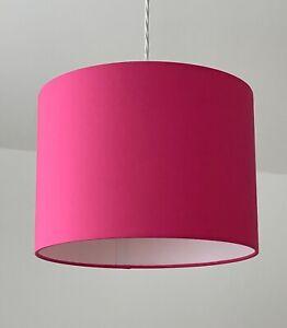Lampshade Bright Pink Cotton Drum Light Shade