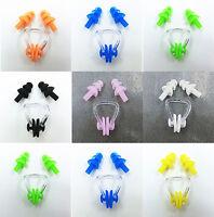 10pcs Swimming Waterproof Set Nose Clip Earplugs Silicone Soft Swim Ear Plug new