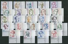 Bund Frauen Formnummer 1 komplett Eckrand postfrisch FN Ecke 4 alle 24 Stück MNH