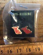 Vintage 80's E.T. Movie Earrings , Hypo Allergenic , Funky Alien Costume Jewelry
