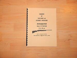 Winchester Model 50 Shotgun Takedown Manual - #W5