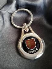 GIBSON Clan Coat of Arms High Chrome Keyring Keyfob Gift Idea