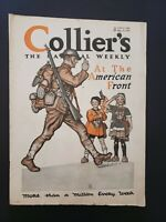 Colliers magazines 1917-1919 Terrific WWI articles, editorials, great era ads