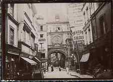 Seine Maritime, Rouen. La Grosse Horloge, 1898  Vintage citrate print. Normandie