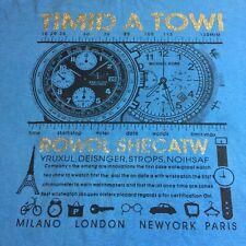 Random Vintage T-Shirt Advertising Quality Watches Gold Glitter Bad English LG