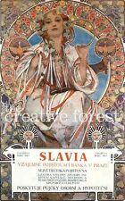 SLAVIA, 1907 Alphonse Mucha Fine Art Reproduction Rolled CANVAS PRINT 24x36 in.