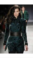 BALMAIN X H&M green velvet silk blend dress Eur 34 US 4 UK 8