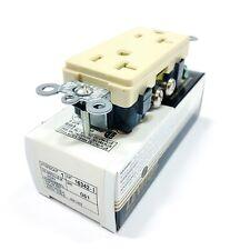 16342-I Leviton Duplex Receptacle Ivory, 20 Amp, 125 Volt