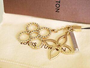 Louis Vuitton Gold & Silver Tone Mobile Phone Strap Bag Charm Authentic #3928P