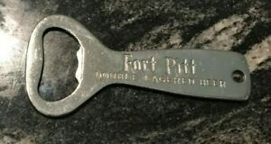 C) FORT PITT BEER - BREWING CO METAL BOTTLE OPENER PITTSBURGH PA DOUBLE LAGERED
