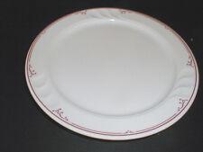 Syracuse Restaurant Ware Red Line Stylus Shape Luncheon  Plate (loc-X21)