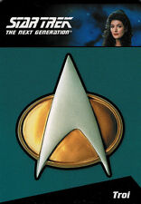 Complete Star Trek TNG Series 2 CP4 Communicator Pin Card #135