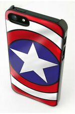 Captain America iPhone 5, 5S Black Plastic Hard Cover & Screen Protector UK