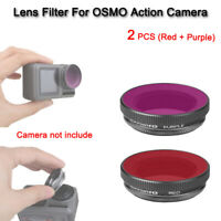 2X ND/PL Lens Filters for DJI Osmo Sport Action Camera kit Accessory Red+Purple