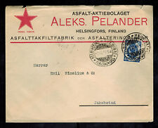 1910 Helsinki Finland Russia Commercial Cover to Jakobstad