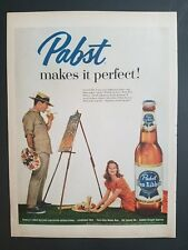 1958 bottle Pabst Blue Ribbon beer makes it Perfect Suzy Parker ad