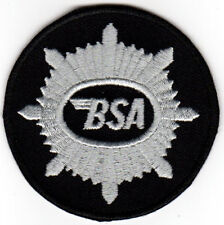 BSA MOTORCYCLE EMBROIDERED IRON ON PATCH cafe racer ace cafe british biker
