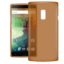 Slim & Thin TPU Gel Case Cover for Oneplus 2 /OnePlus Two by Orzly -Smoke Orange