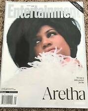 ARETHA FRANKLIN Entertainment Magazine- 2018 BRAND NEW  in COLTR SLEEVE