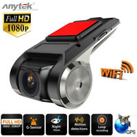 FHD 1080P Cámara DVR para Coche Grabadora Video WiFi ADAS G-sensor Dash Cam 2MP