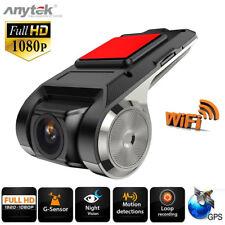 Fhd 1080p Cámara DVR para coche grabadora video WiFi Adas G-sensor Dash Cam 2mp