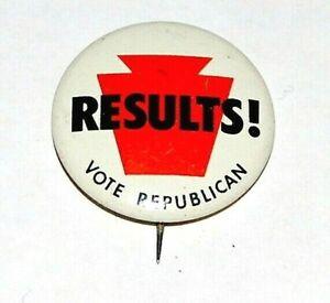 1968 RICHARD NIXON VOTE REPUBLICAN results campaign pin pinback button political