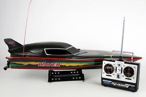 SPARES Radio Remote Control Black Stealth EP Racing Model Speed Boat 7000 Toy