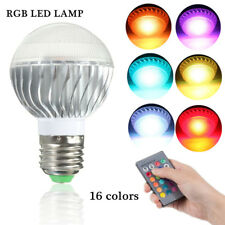 E27 RGB LED Lamp Light Bulb Color Changing W/ IR Remote Control Multi Color 9W