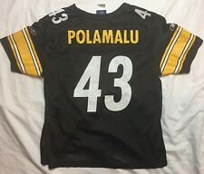 Authentic Nike NFL Troy Polamalu Pittsburgh Steelers Jersey, Youth Large