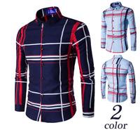 Fashion Luxury Men's Slim Fit Shirt Long Sleeve Dress Shirts Casual Shirts Tops