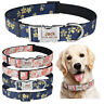 Nylon Personalized Dog Collar Free Engraved Puppy Pet ID Name Adjustable Collars
